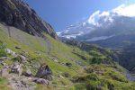 Giètre du Fond, le chemin va monter sur la gauche pour ensuite passer à flanc de coteau (on le voit)