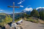 La Croix de Berroi et les Dents du Midi. Vue arrière