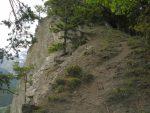 Le passage passe rarement près de la falaise.