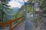 Le premier pont suspendu, 87m