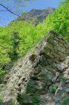 Le mur de pierres sèches. Vue arrière