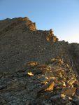 Puis nous montons par la crête rocheuse pour le Balfrin