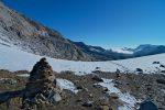 Le Col des Eaux Froides, 2648m, versant ensoleillé