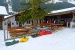 Le restaurant de Solalex et son parking à luges !