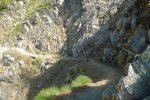Chemin suffisant, mais déversant, équipé de chaines