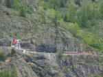 On a une vue sur le train et funiculaire touristique du Chatelard