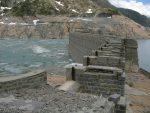 C'est la partie endommagée du barrage qui date de 1925
