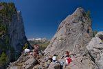 Pause casse-croute pour les grimpeurs