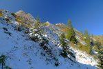 Face N des Pyramides de Gypse, la neige s'y accroche