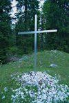 La croix du Cimetière aux Bourguignons, toute simple.