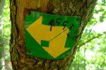 Petit panneau indicateur pour la Gorge Sarrot et Grande Gorge Intérieur