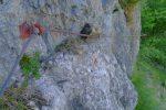 Notez le morceau de bois pour éviter le frottement avec le rocher !