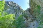 Le haut du Dévaloir de la Mule, infranchissable à pied.