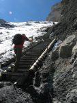 Et on retrouve nos escaliers, la partie pentue et longue