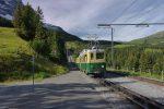 Départ avec le train depuis Grindelwald Grund
