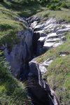 La rivière à creusé une gorge profonde