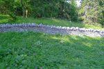 Joli mur de pierres sèches, mentionné sur la carte