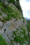 Délicat passage au-dessus de la barre rocheuse