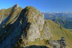 Le passage difficile par du centre pour rejoindre le sommet du centre haut