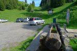 Parking des Granges, marqué Fontaine sur la carte