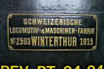 Détail de la première locomotive, bientôt centenaire la belle !