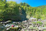 Et on arrive au Saut du Doubs, la chute est au centre de la photo