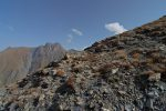 Un des rares cairns de la randonnée