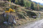 Ce panneau est pour nous, c'est à gauche et nous quittons le plat pour une bonne montée en lacets et dans la forêt. Direction Le Fou.