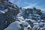 Ces cairns m'ont attiré, pourtant l'accès au sommet aurait pu se faire en droite ligne. Le chemin emprunte des détours ... que je suis