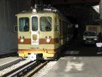 Et retour par le train qui sort de son tunnel de Feydey.