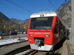 Pour cette randonnée, je change de train à Martigny pour le petit et confortable train Saint-Bernard-Express