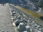La digue du barrage de Mattmark, un des rares barrage-poids en Suisse