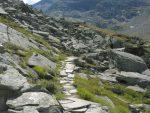 Début du chemin vers le Monte Moropass, bien aménagé