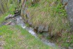 La prise d'eau depuis le Torrent de Randonne