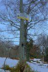 Un panneau indique que l'itinéraire a été modifié, il n'est jamais trop tard !