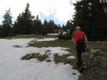 Pour le cheminement on évite au maximum la neige.
