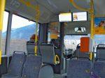 dans le dernier bus (le 3ième pour Martigny), nous avons le droit à des infos sur écran, quel luxe !