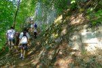 On rejoint un autre chemin pour attaquer les escaliers taillés dans le rocher