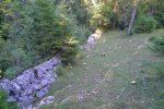 Au lieu de suivre le chemin, encore un peu de hors le long du mur de pierres sèches