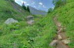 Le col pour arriver au plateau des Chalets de Tavaneuse.