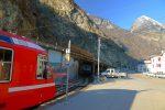 Départ depuis l'arrêt du train de Vernayaz
