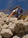 ... et préfère le passage en rocher juste à gauche