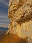 La couleur du rocher est superbe
