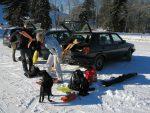 Départ depuis le parking du skilift d'Orgevaux, à Saumont (978m)