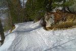 Retour par le chemin d'été de l'aller, mais jusqu'aux pistes de ski