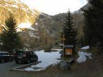 Départ depuis le vallon de Van, au parking du camping de Van, Pt1395. Peu de neige sur le chemin d'été...