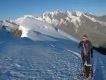 La trace de la traversée depuis la Almagellerhütte. Photo Stéphane