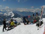 Et le sommet du Pic Chaussy, 2351.4m, bien occupé ce samedi
