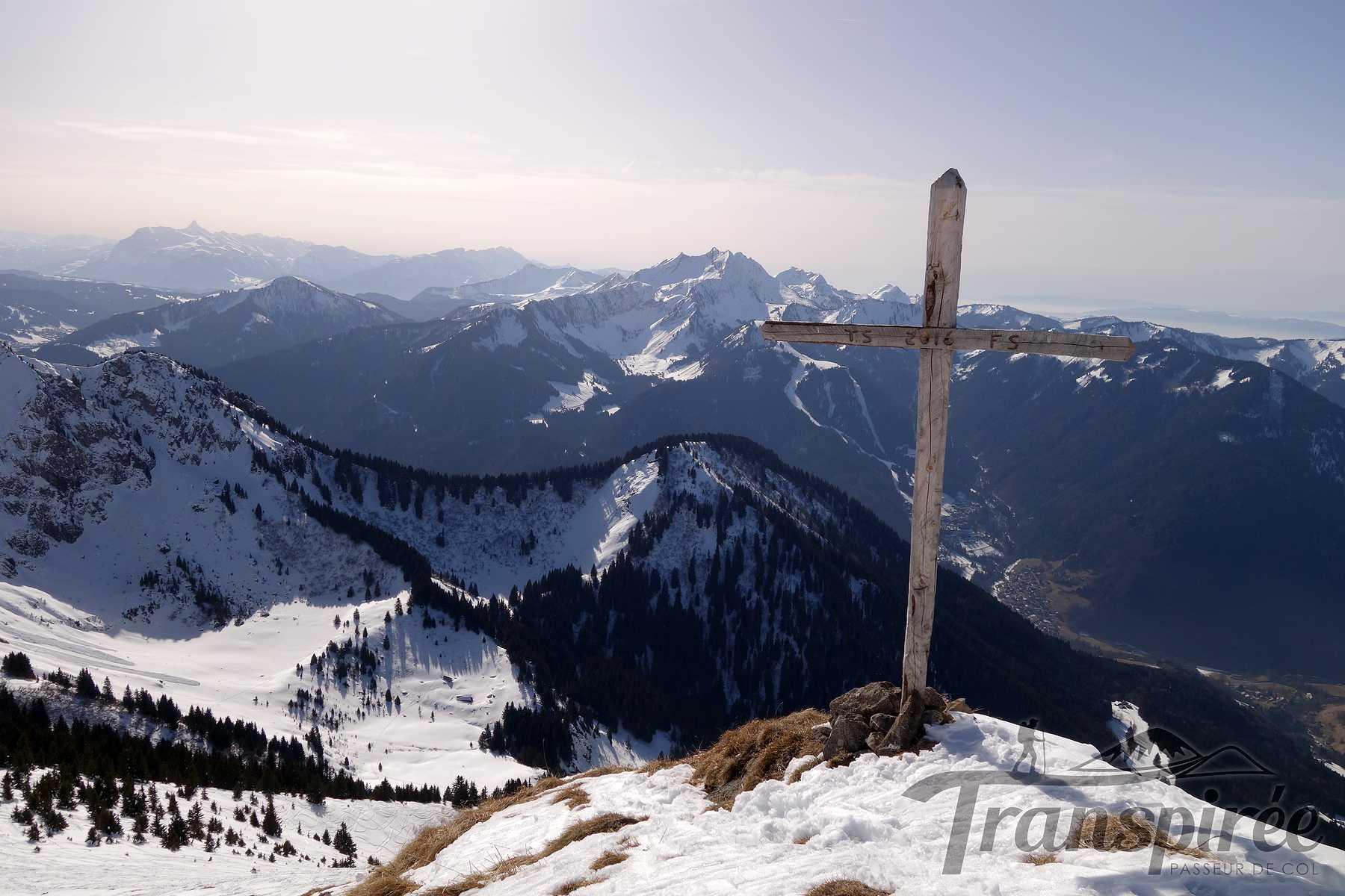 Ski de randonnée au Pic de la Corne depuis Prétairié (Abondance) et le col de Damoz des Moulins