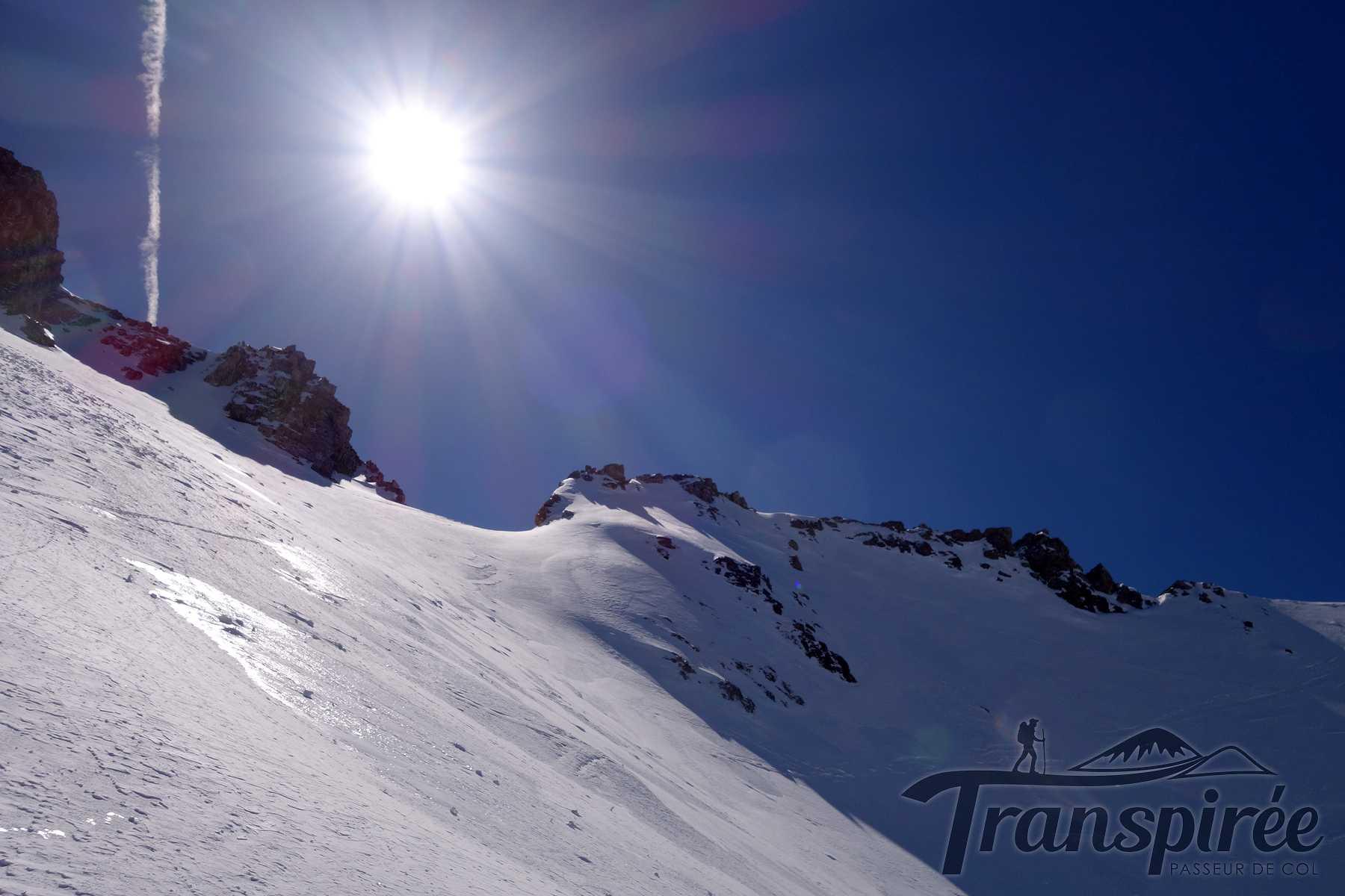 Ski de randonnée au col de la Golette de l'Oule depuis les Allamands